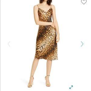L'AGENCE silk leopard slip dress 🐆